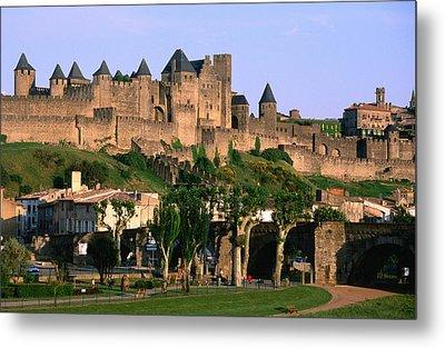 Languedoc Roussillon Carcassonne La Cite, 12th Century Castle, Carcassonne, Languedoc-roussillon, France, Europe Metal Print by John Elk III