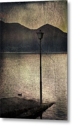 Lantern At The Lake Metal Print by Joana Kruse