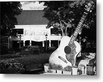 large guitar outside Grand Ole Opry House building Nashville Tennessee USA Metal Print