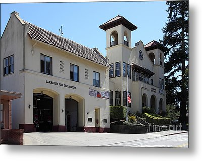 Larkspur Fire Department And City Hall - Larkspur California - 5d18502 Metal Print by Wingsdomain Art and Photography