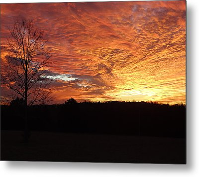 Metal Print featuring the painting Lascassas Sunset Four by Carol Berning