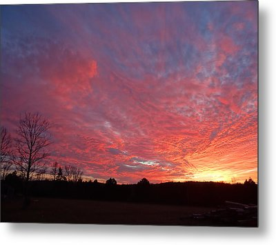 Metal Print featuring the painting Lascassas Sunset One by Carol Berning