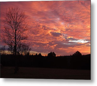 Metal Print featuring the painting Lascassas Sunset Three by Carol Berning