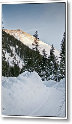 Last Glance At The Mountain Metal Print by Lisa  Spencer