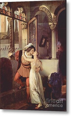 Last Kiss Of Romeo And Juliet Metal Print by Pg Reproductions