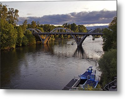 Last Light On Caveman Bridge Metal Print