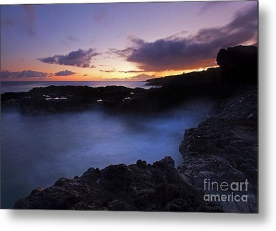 Last Light Over The South Shore Metal Print by Mike  Dawson