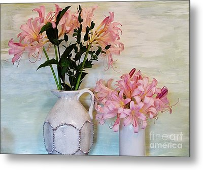 Last Of My Lilies Metal Print by Marsha Heiken