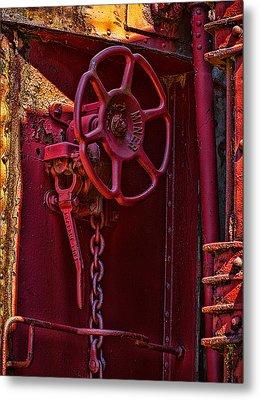 Last Red Caboose Metal Print by Ken Stanback