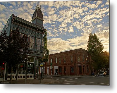Late Afternoon At The Corner Of 5th And G Metal Print