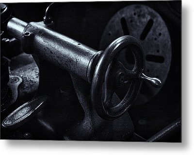Metal Print featuring the photograph Lathe Handle by Tom Singleton