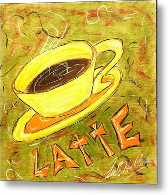 Latte Metal Print by Lee Halbrook
