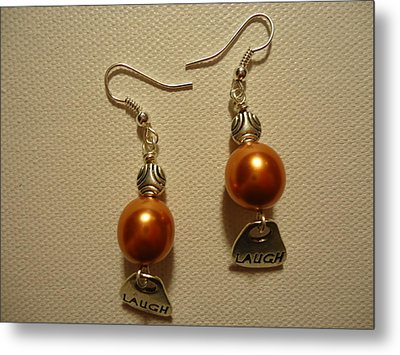 Laugh In Orange Metal Print
