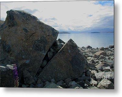 Metal Print featuring the photograph Laughing Rock On Lake Tekapo Foreshore.o by Nareeta Martin