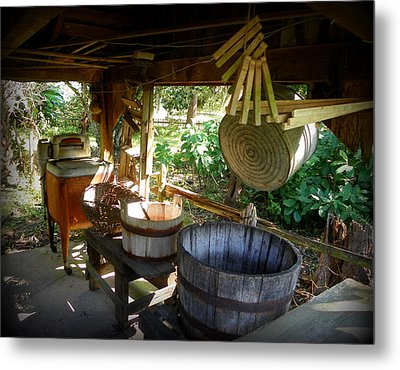 Laundry Shed I Metal Print