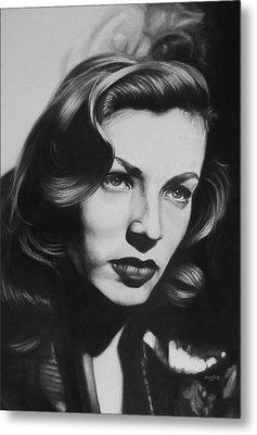 Lauren Bacall Metal Print by Steve Hunter