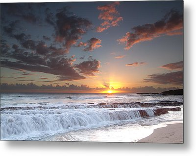 Lava Shelf Waterfall Metal Print by Roger Mullenhour