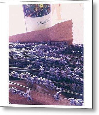 Lavender Still-life Metal Print by Ann K