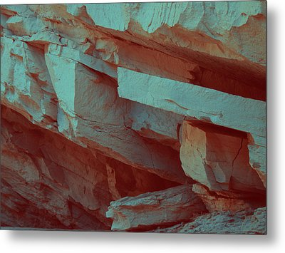 Layers Of Rock Metal Print by Naxart Studio