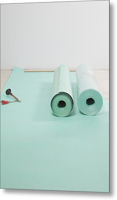 Laying A Floor. Rolls Of Underlay Or Metal Print by Magomed Magomedagaev