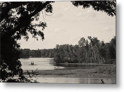 Lazy Day On Sand Lake Metal Print by Artist Orange