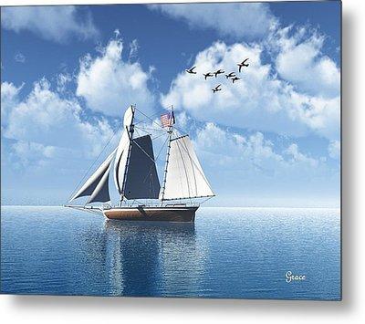 Lazy Day Sail Metal Print by Julie Grace