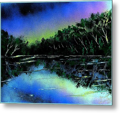 Lazy River Metal Print by Greg Moores