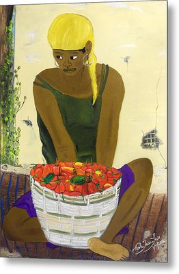 Le Piment Rouge D' Haiti Metal Print by Nicole Jean-Louis