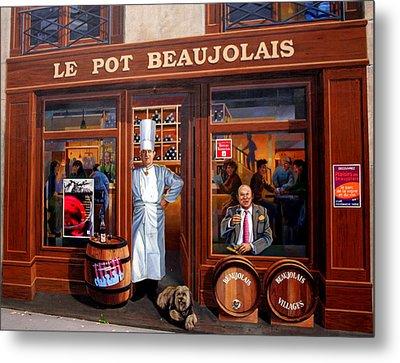 Le Pot Beaujolais Metal Print by Laurel Talabere