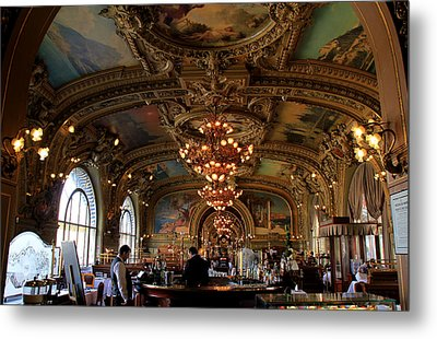 Le Train Bleu Metal Print by Andrew Fare