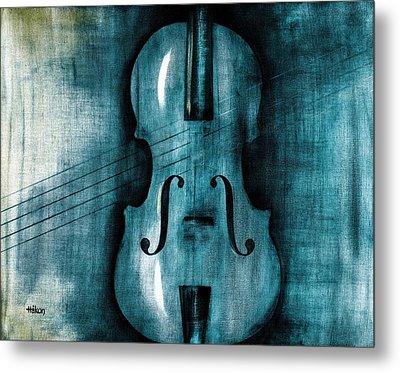Le Violon Bleu Metal Print by Hakon Soreide