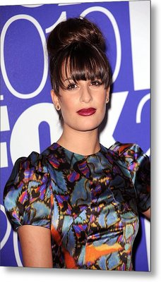 Lea Michele In Attendance For Fox 2010 Metal Print by Everett