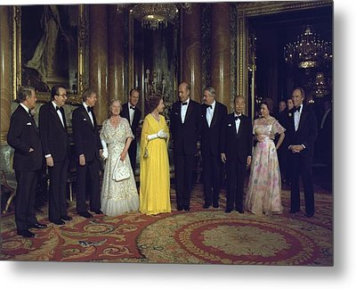 Leaders From Canada France The Federal Metal Print by Everett