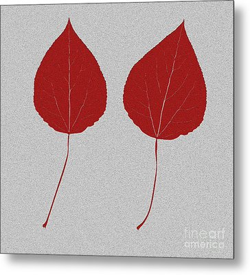 Leafs Rouge Metal Print by Bruce Stanfield