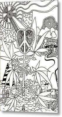 Leaves Metal Print by Andrew Padula
