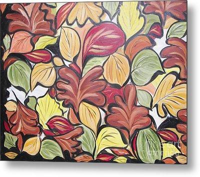 Leaves Of Autumn Metal Print by Rachel Carmichael