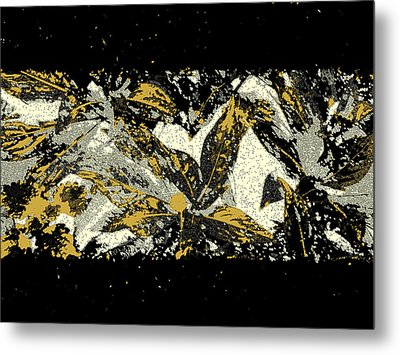 Leaves Of Gold Metal Print