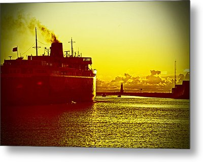 Metal Print featuring the photograph Leaving Port by Randall  Cogle