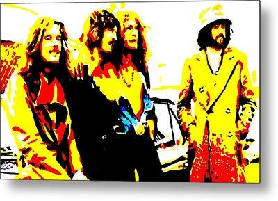 Led Zeppelin Metal Print by Paula Sharlea