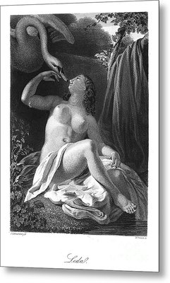 Leda And The Swan Metal Print by Granger