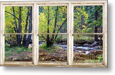 Left Hand Creek Rustic Window View Colorado Metal Print by James BO  Insogna