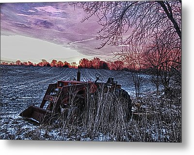 Left In The Cold Metal Print by Kimberleigh Ladd