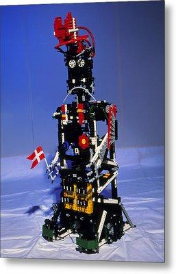 Lego Humanoid Robot Known As Elektra Metal Print by Volker Steger