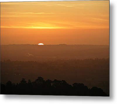 Leicestershire Sunrise Metal Print by Linsey Williams