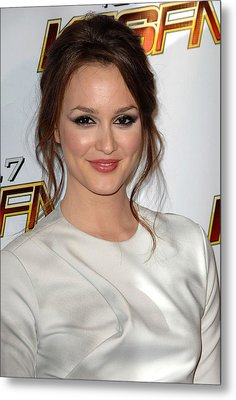 Leighton Meester In Attendance For Kiis Metal Print by Everett