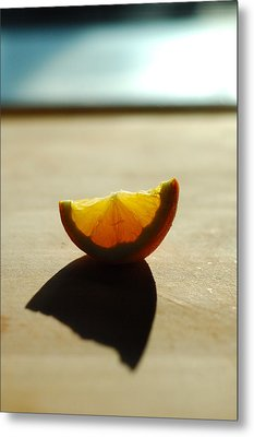 Lemon Shell Metal Print