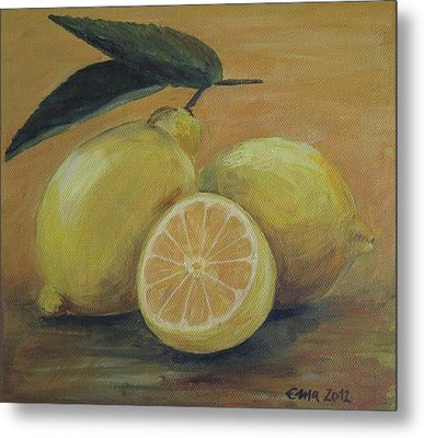 Lemons Metal Print by Ema Dolinar Lovsin