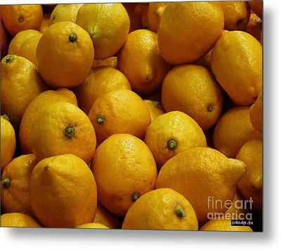 Lemons Metal Print by Methune Hively