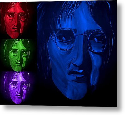 Lennon The Legend Metal Print by Mark Moore