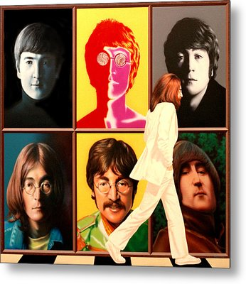 Lennon To The 7th Power Metal Print by Ross Edwards